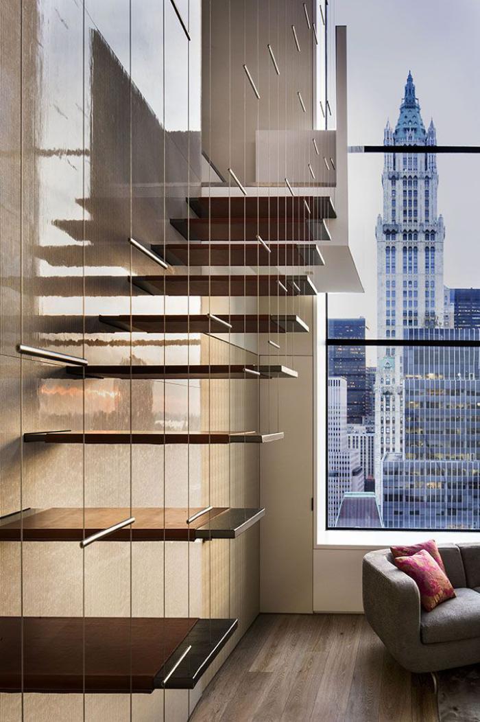 escalier-suspendu-rambarde-cables-et-marches-flottantes