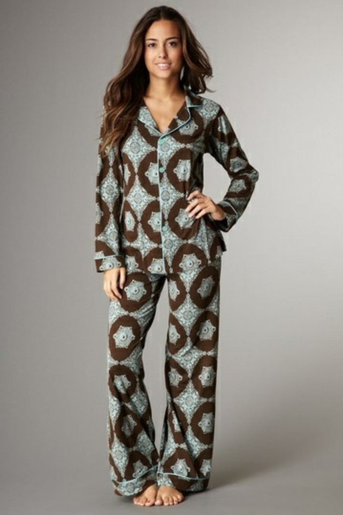 etam-pyjama-pyjama-en-pilou-femme-bleu-marron-femme-pyjama-pas-cher-filles-omdernes
