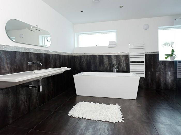 faience-salle-de-bain-leroy-merlin-salle-de-bain-noir-blanc-baignoire-blanche