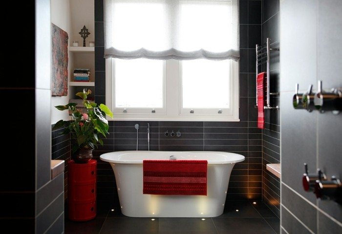 salle de bain rouge leroy merlin - Salle De Bains Rouge