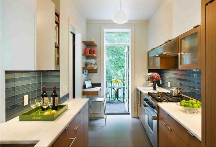 forme-u-mini-cuisine-ikea-aménager-une-toute-petite-cuisine-petit-meuble-cuisine-couloir