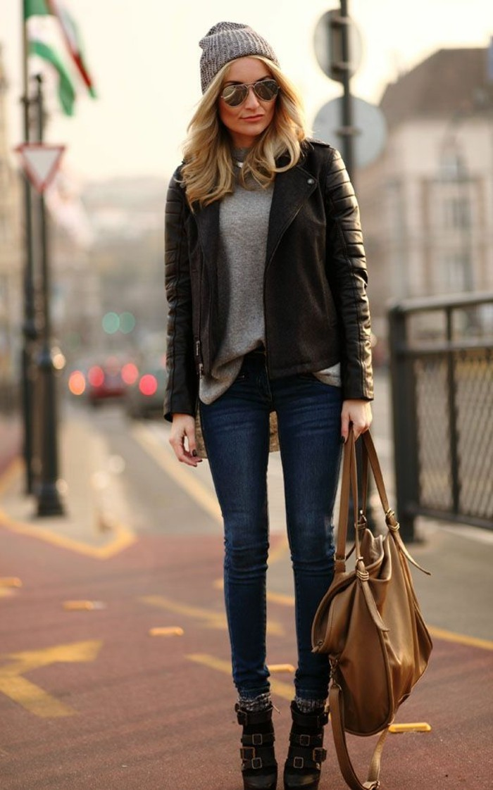 formidable-bottines-chelsea-femme-bottine-en-cuir-noir-tenue-de-jour