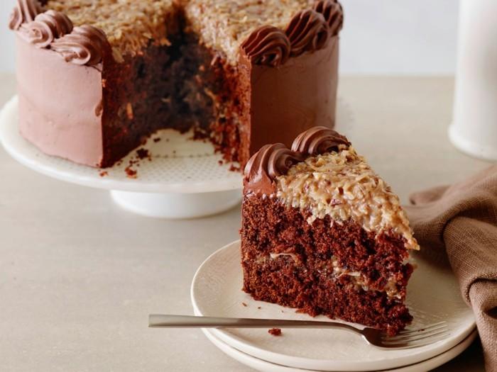 formidable-gâteau-moelleux-au-chocolat-gâteau-d-anniversaire-au-chocolat-photo