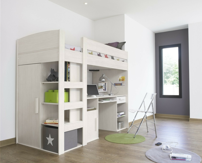 furniture-round-bathroom-rug-idea-and-stunning-adult-loft-bed-with-workspace-plus-white-folding-chair-incredible-adult-loft-bed-designed-with-multi-functional-unit-ideas-resized