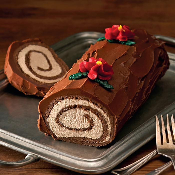 gâteau-roulé-buche-de-noel-crème-au-chocolat