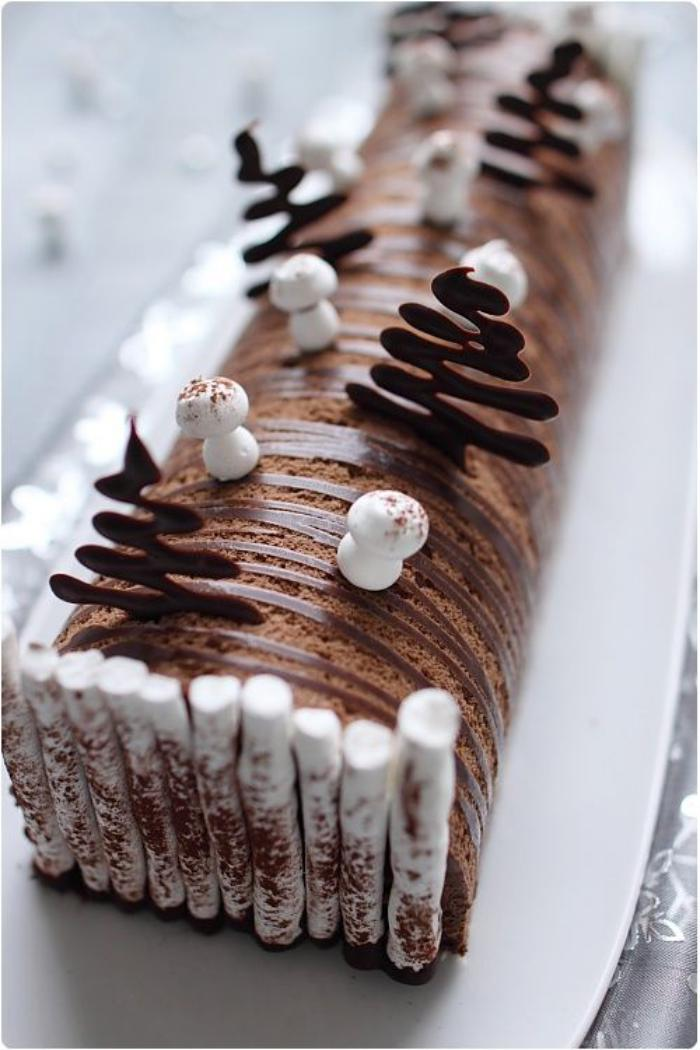 Decoration Buche De Noel Blanche