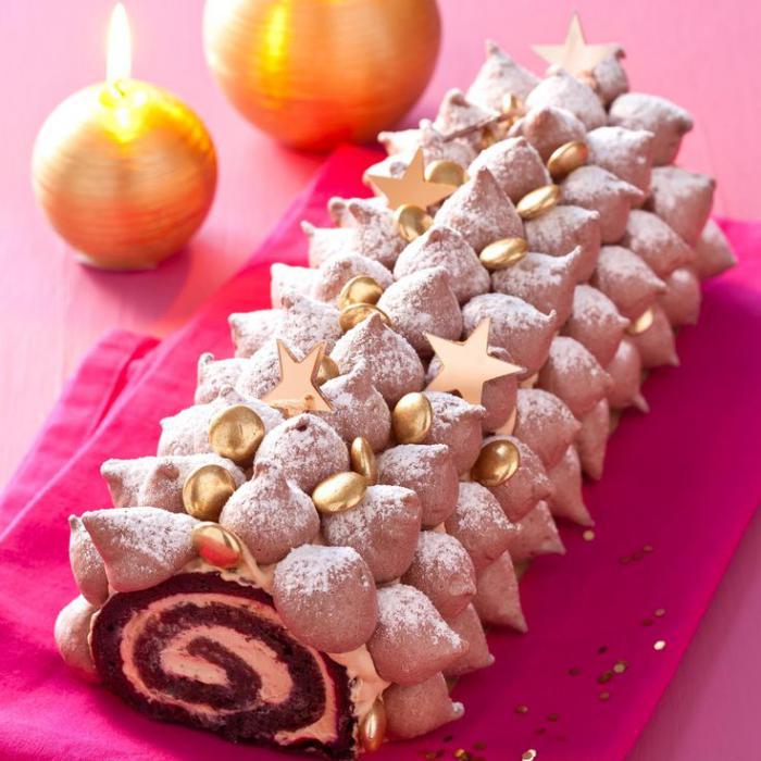 gâteau-roulé-original-type-hérisson-gateau-roulé-aux-méringues