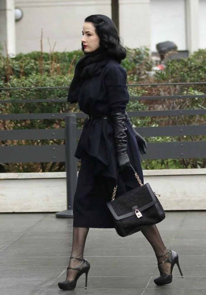 gant-chauffant-design-cuir-pas-cher-cuir-noir-pour-les-femmes-modernes-talons-hauts