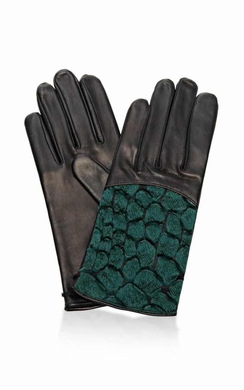 gant-chauffant-design-cuir-pas-cher-noir-et-bleu-cuir-et-dentelle-mode-tendances