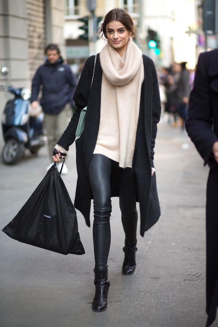 grosse-écharpe-foulard-épais-et-moelleux-couleur-crème
