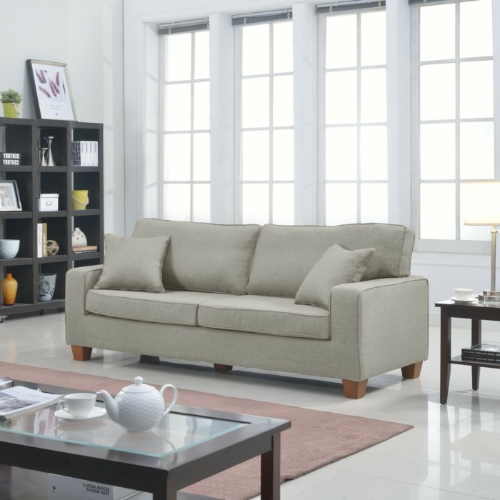 le canape lin pour un salon style en 45 images magnifiques With tapis design avec jeté de canapé en lin