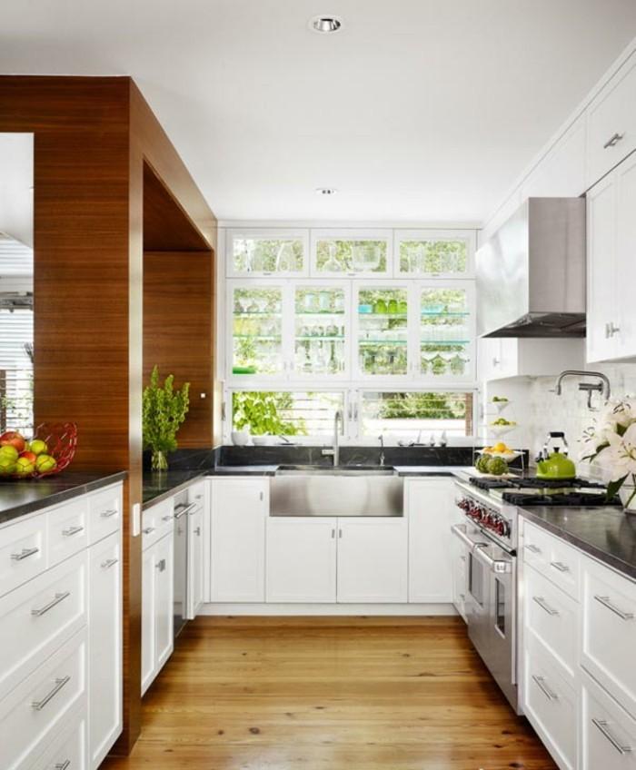 idée-cuisine-ouverte-aménager-une-petite-cuisine-ouverte-u-aménager-une -petite-cuisine