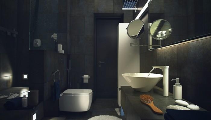 inteirieur-chic-dans-la-salle-de-bain-faience-salle-de-bain-leroy-merlin-noir