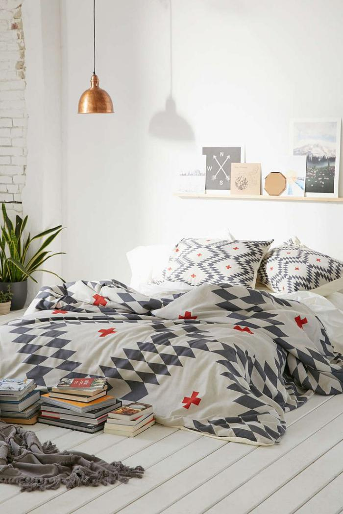 jeté-de-lit-chambre-à-coucher-fantastique-style-scandinave