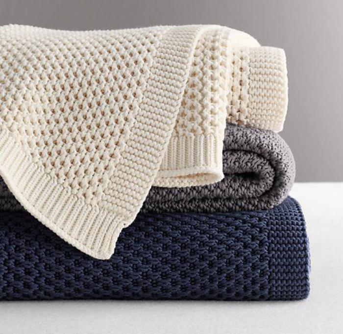 jeté-de-lit-tricot-dessus-de-lit-tricotés-différentes-couleurs