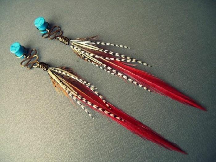 joli-boucle-d-oreille-plume-de-paon-rouge-pour-les-filles-modernes