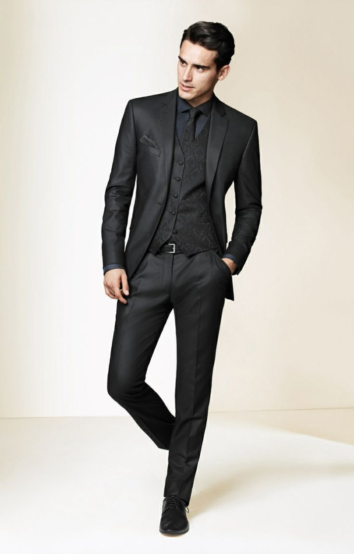le costume gris anthracite homme en 40 photos