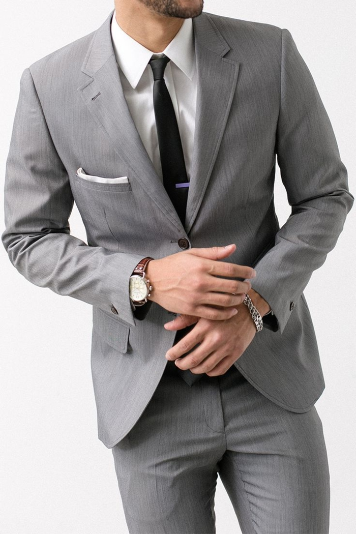 Le costume gris anthracite homme en 40 photos - Portillon gris anthracite pas cher ...