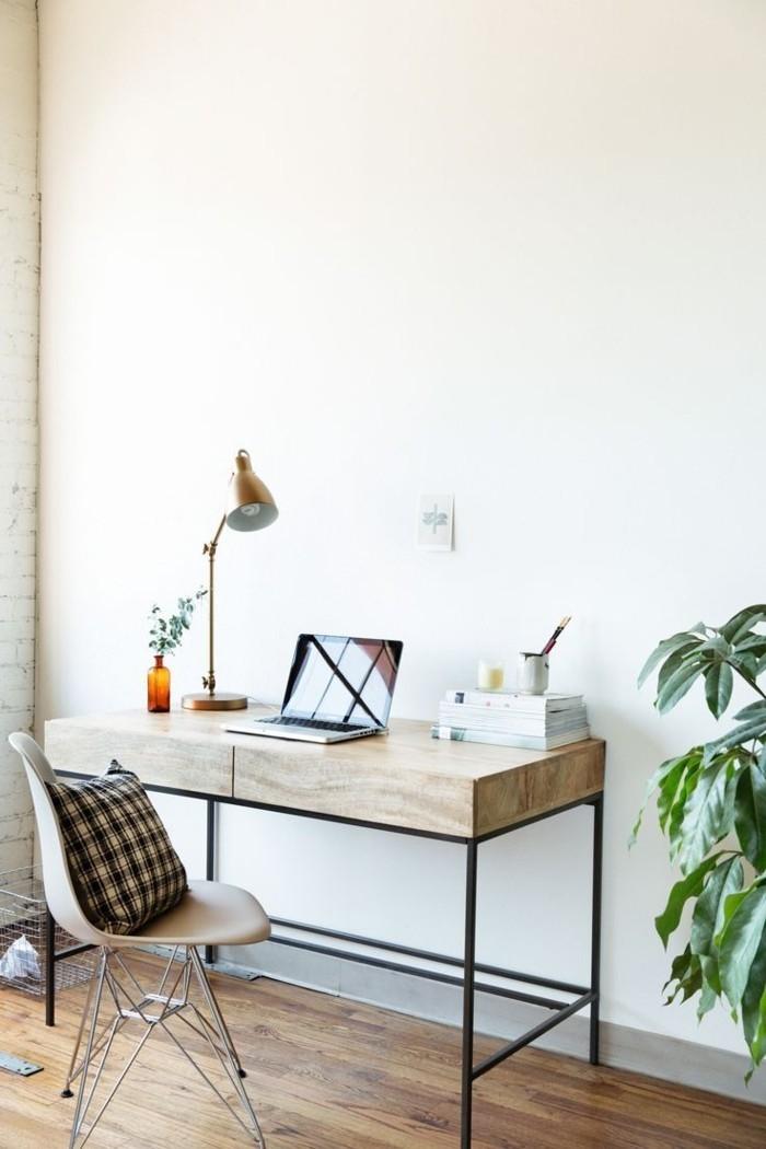 joli-design-office-space-sol-en-parquet-clair-comment-organiser-le-rangement-de-bureau