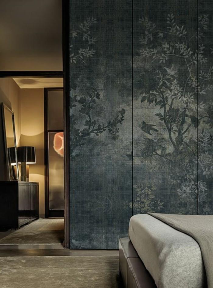 Les papiers peints design en 80 photos magnifiques - Papier peint chambre adulte chantemur ...