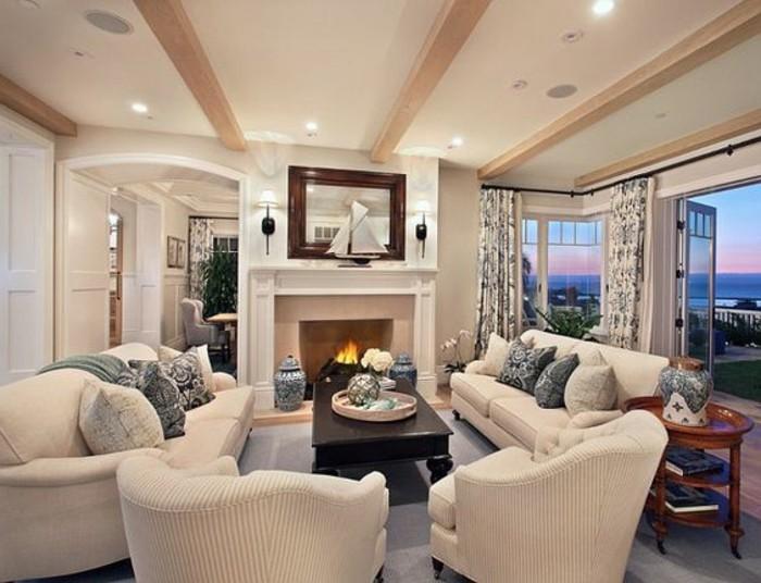 Carrelage En Salon Grege : joli salon avec meubles tapisserie taupe ...