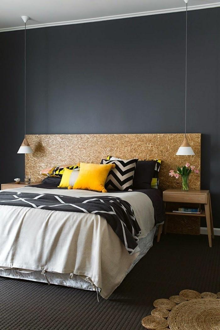 jolie-chambre-a-coucher-avec-murs-ral-gris-anthracite-7016-tapis-marron
