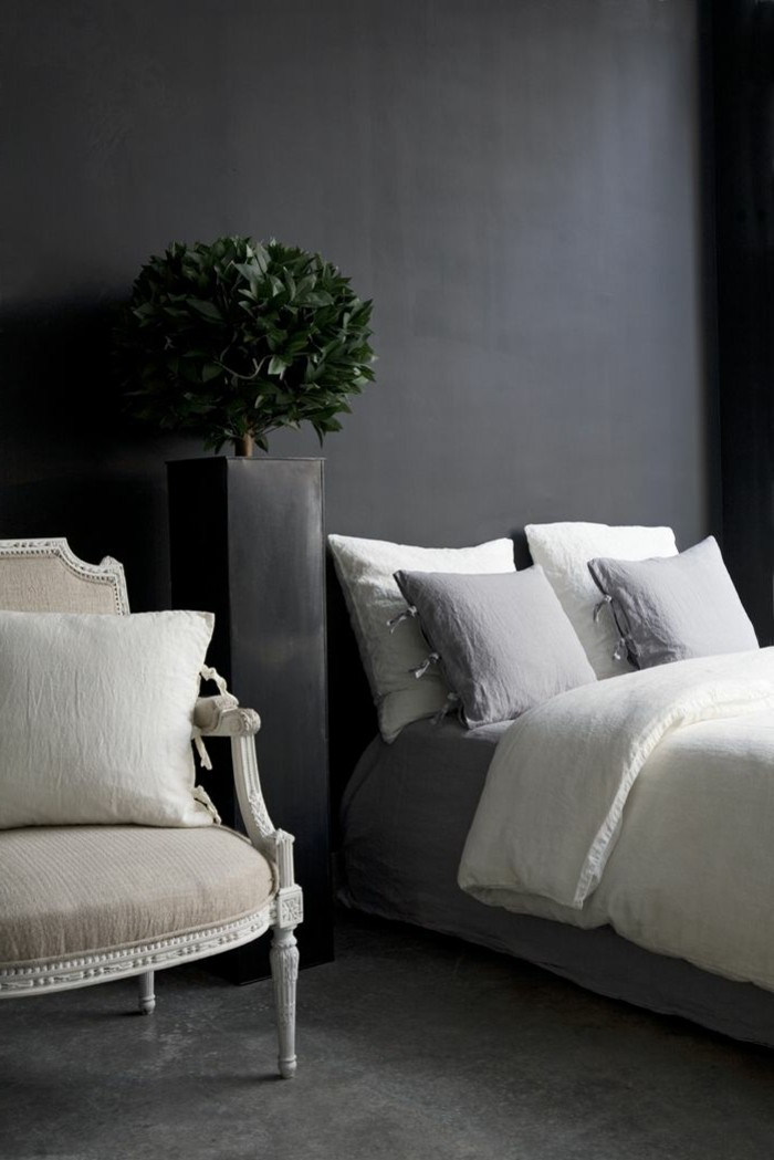 Le gris anthracite en 45 photos d 39 int rieur for Jolie chambre a coucher
