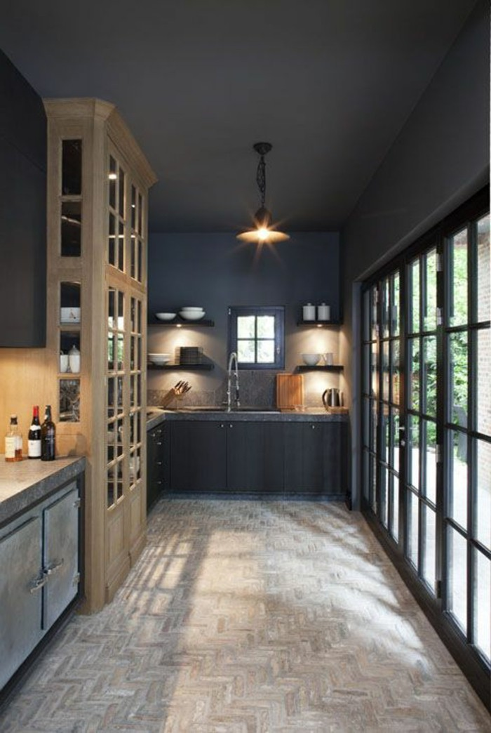 Le gris anthracite en 45 photos d 39 int rieur for Couleurs cuisines 2016