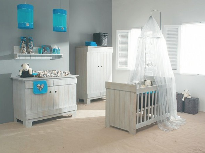 La chambre b b mixte en 43 photos d 39 int rieur for Amenager chambre parents avec bebe