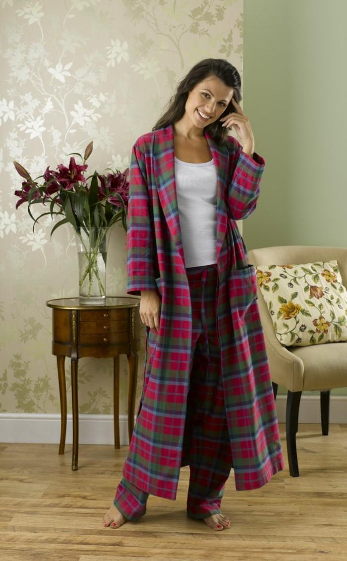 Robe de chambre plaid for Peignoir de chambre
