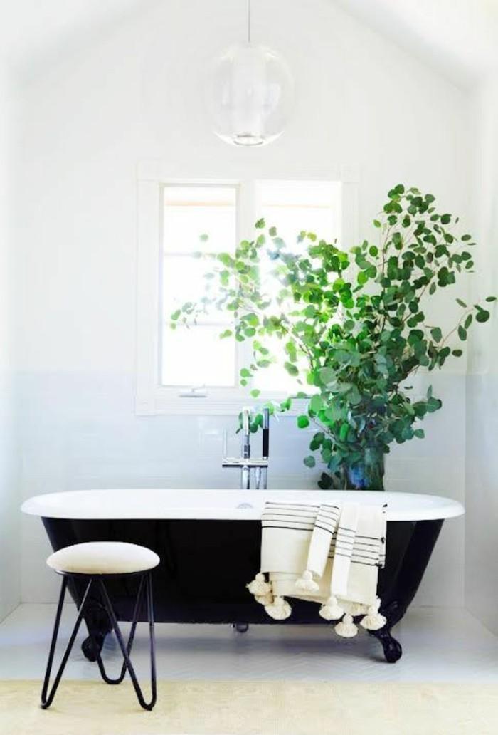 40 photos d 39 int rieur de la baignoire ancienne for Baignoire noire et blanche
