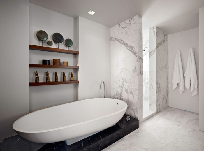 noir mur gris jolie salle de bain grise avec carrelage en marbre - Carrelage Gris Mur