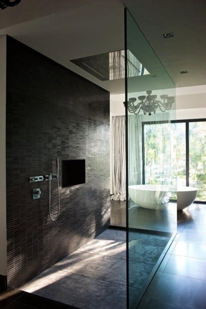 Relooker une salle de bain 42 id es en photos - Prise pour salle de bain couleur marron ...