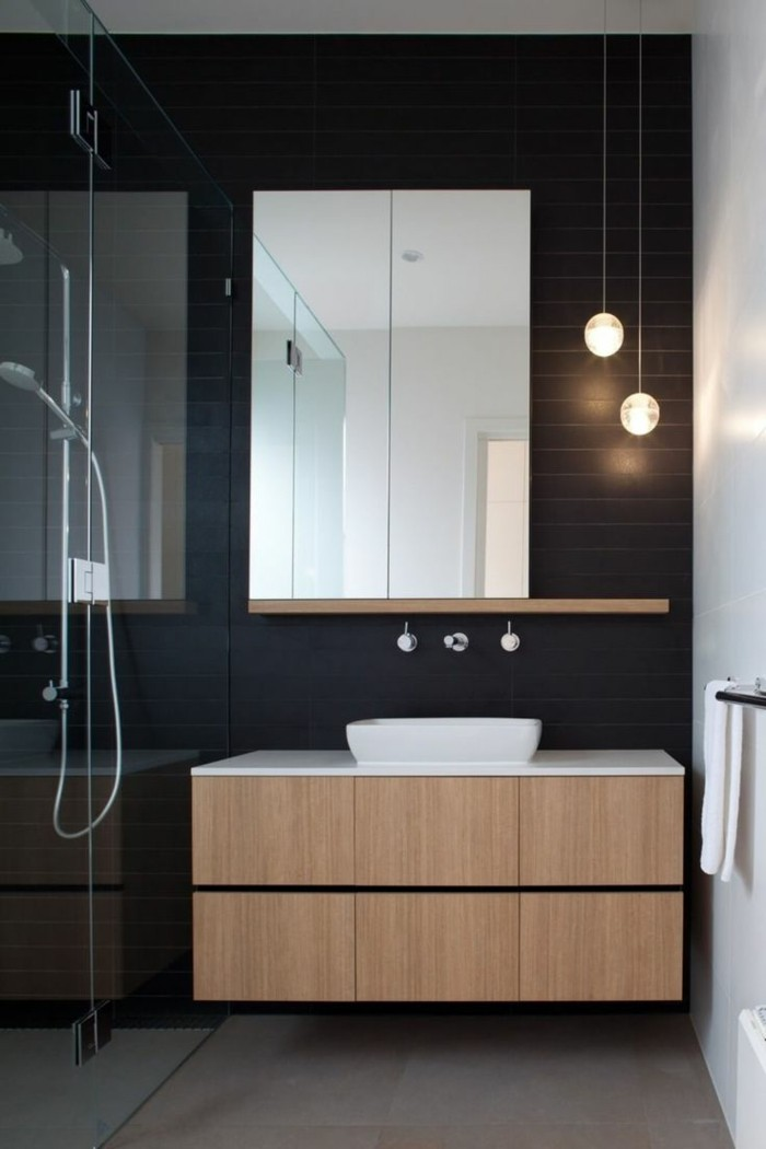 la beaut de la salle de bain noire en 44 images. Black Bedroom Furniture Sets. Home Design Ideas