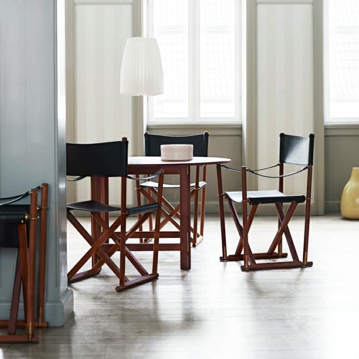 la-chaise-de-salle-à-manger-chaise-haute-pliante-cool-cuir-et-bois