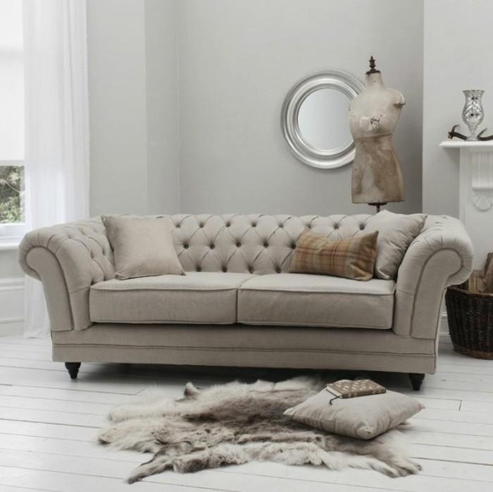 Le canap lin pour un salon styl en 45 images magnifiques - Housse de fauteuil la redoute ...