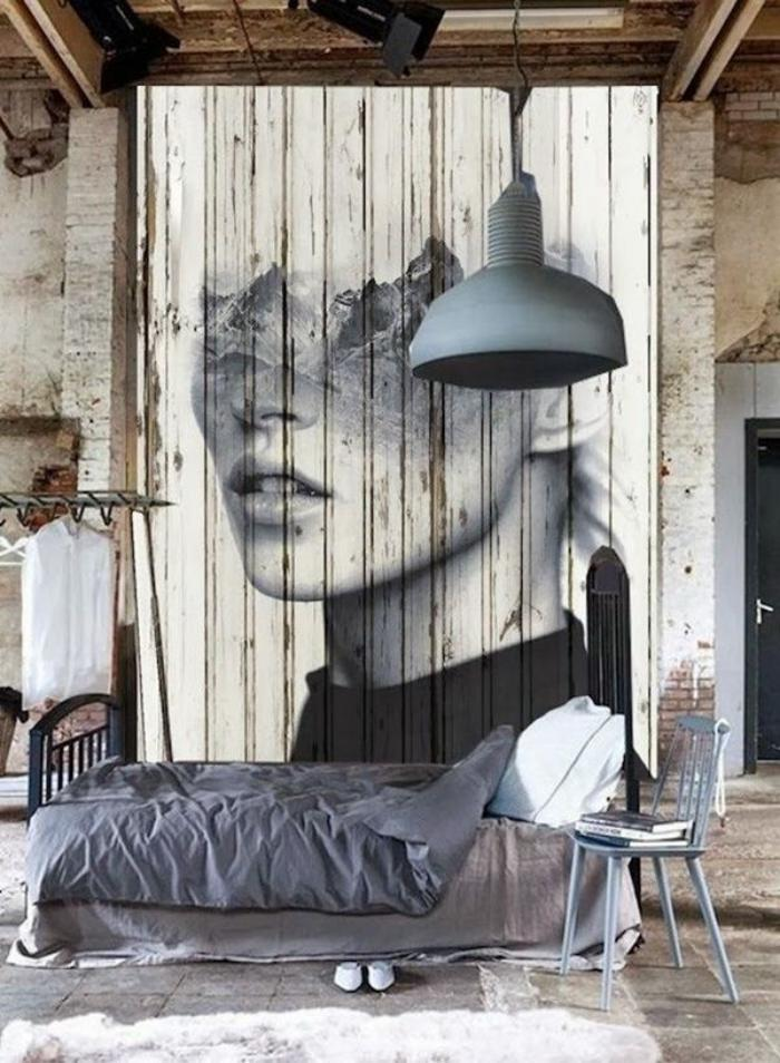 le lambris mural d coratif en 40 photos. Black Bedroom Furniture Sets. Home Design Ideas