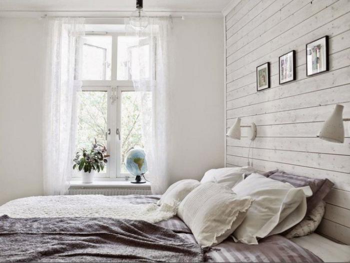 lambris-mural-blanc-de-chambre-à-coucher