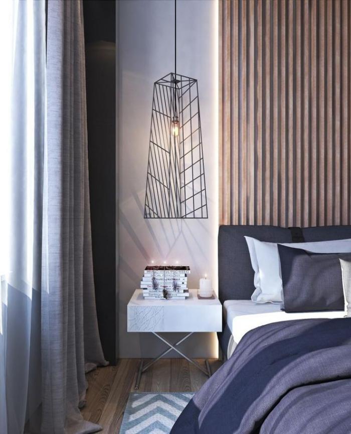 lambris-mural-bois-panneau-de-bois-comme-tête-de-lit