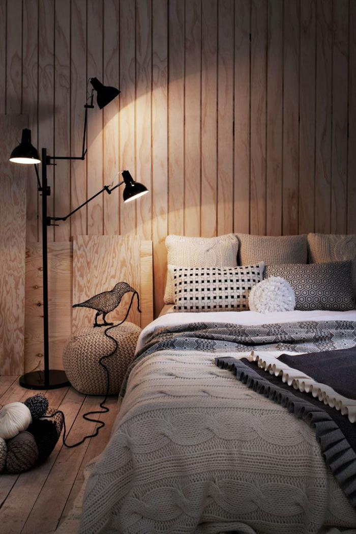Le lambris mural d coratif en 40 photos - Chambre a coucher cosy ...