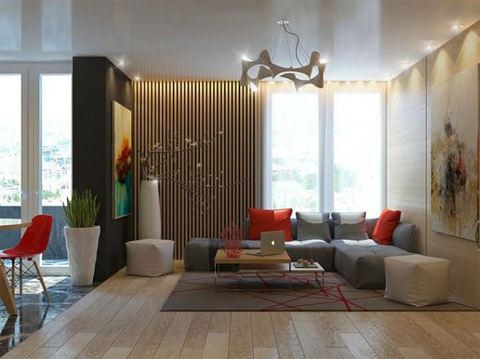 lambris-mural-vertical-salon-contemporain