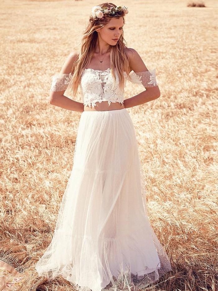 le-blé-robe-mariee-courte-robe-de-mariée-en-dentelle-robe-marié-cool-idee