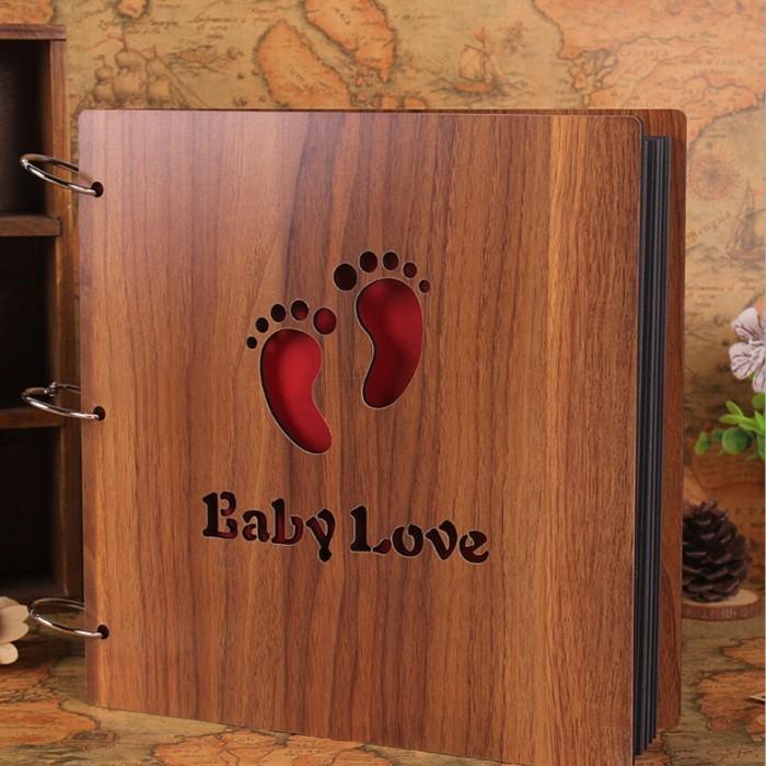 le-livre-photo-bébé-album-photo-traditionnel-bébé-album-photo-scrapbooking-bébé-bois