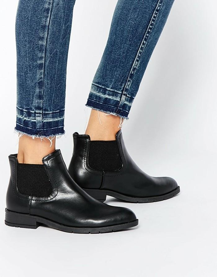 les-chaussures-bottine-femme-noir-bottines-pas-cher-femme-laques