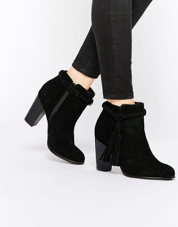 les-chaussures-bottine-femme-noir-bottines-pas-cher-femme-velour-bottes-talon