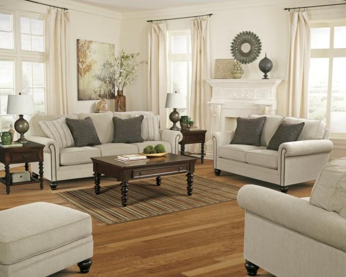 linea-sofa -canapé-lit-italien-pièce-principale-idées-bige-et-blanche