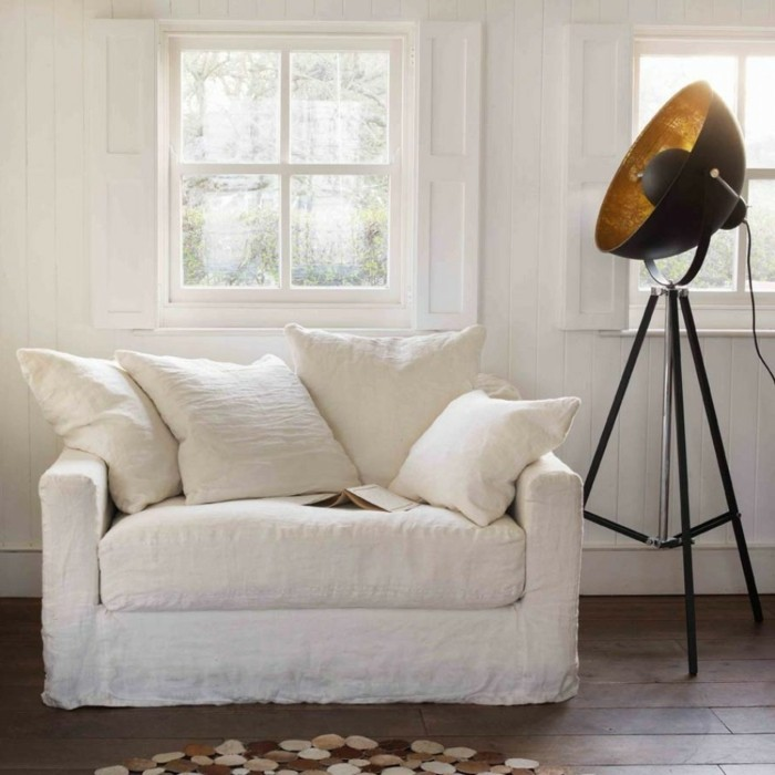 Le canap lin pour un salon styl en 45 images magnifiques - Canape angle la redoute ...