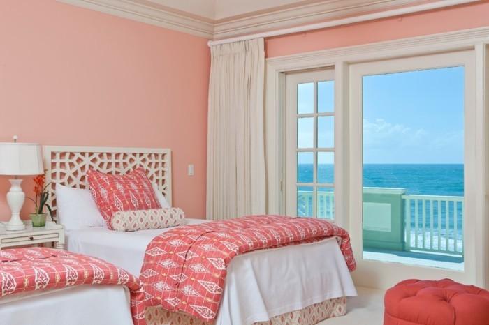40 id es pour la d coration magnifique en couleur corail - Magnifique maison avec vue la laguna beach ...