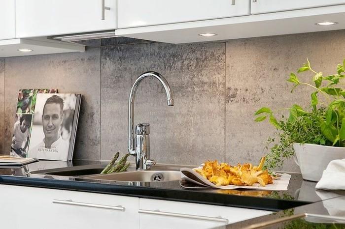 magnifique-idée-crédence-cuisine-crédence-de-cuisine-en-verre-gris