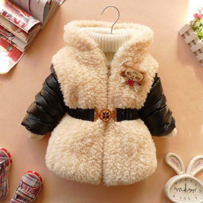 manteau-bébé-fille-cuir-et-fourrure